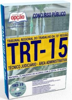 apostila TRT15 TÉCNICO JUDICIÁRIO pdf grátis