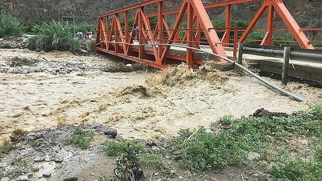 Puentes podrían sufrir daños ante lluvias intensas en sierra de La Libertad