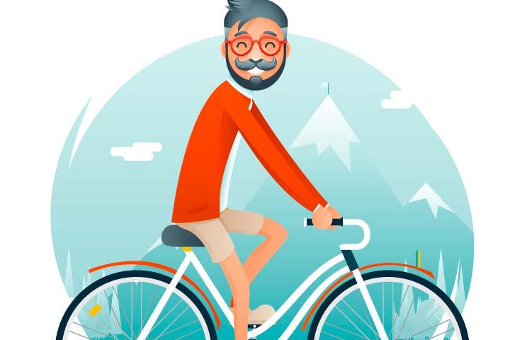 EnBiciArte. Geek Hipster ride on Bicycle de Kristina Kuznetsova
