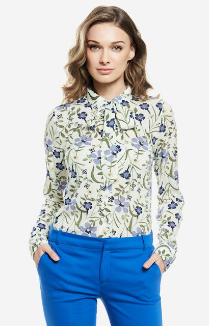 elegancka koszula wólczanka praca kwiaty