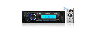 Stereo Mobil 9: Pyle PLR27MPBU Bluetooth Stereo Receiver In-Dash Console Radio + USB,SD,MP3 Playback + Aux 3.5 mm Input + AM,FM Radio + Single DIN
