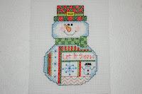 снеговик вышивка крестиком