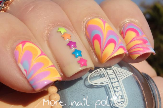 I Scream Nails - Watermarble ~ More Nail Polish