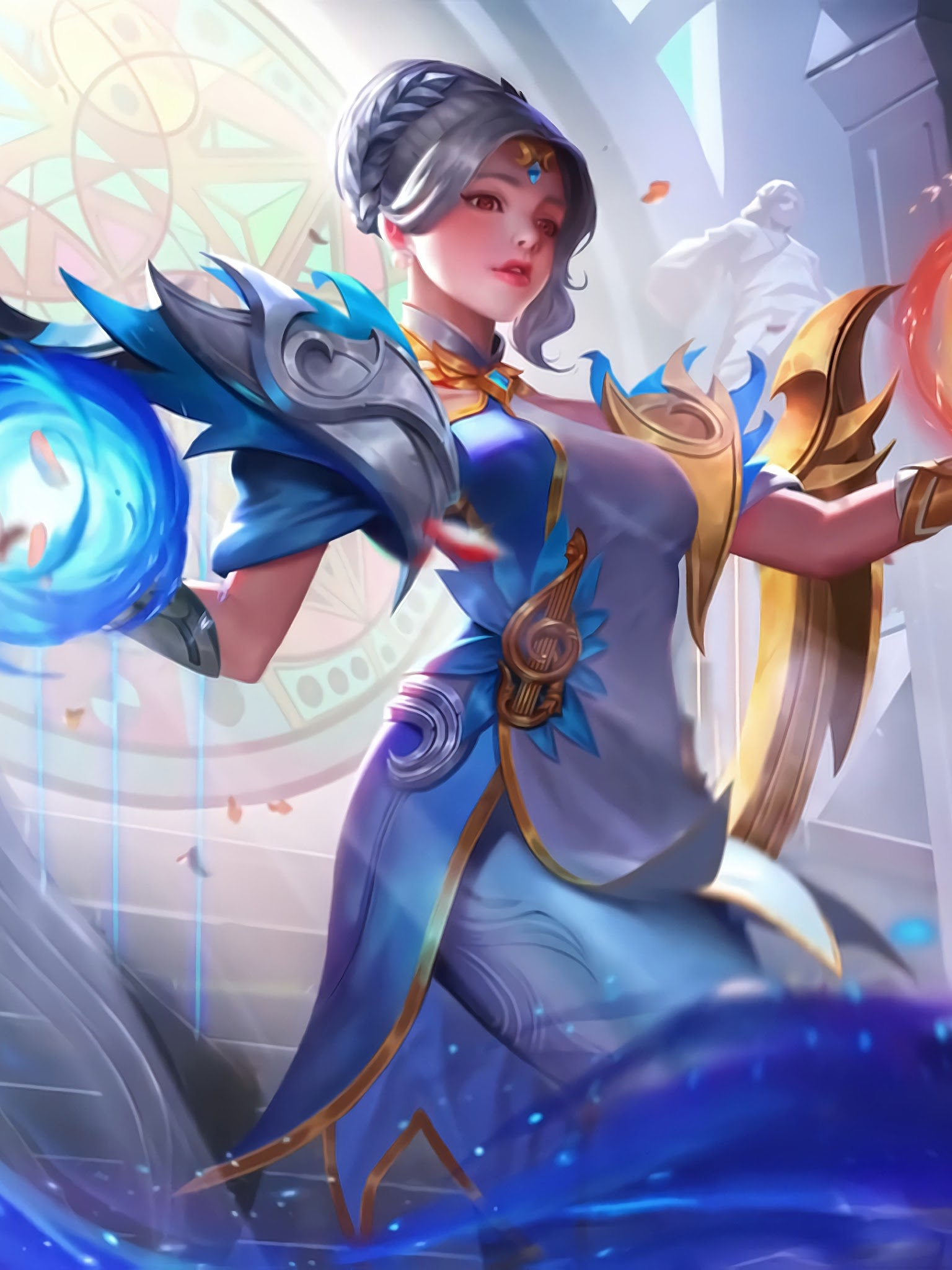 Lunox Cosmic Harmony Skin Mobile Legends 4k Wallpaper 9