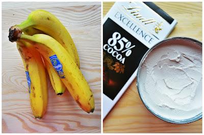 Lody bananowo - czekoladowe - składniki