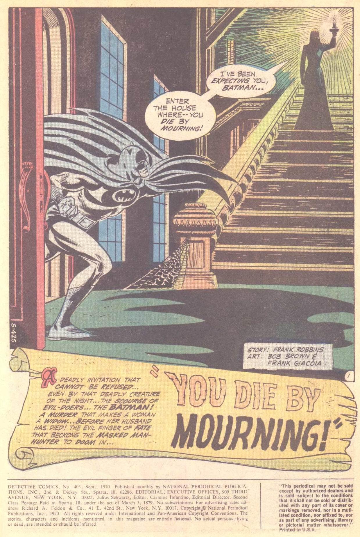 Detective Comics (1937) 403 Page 2