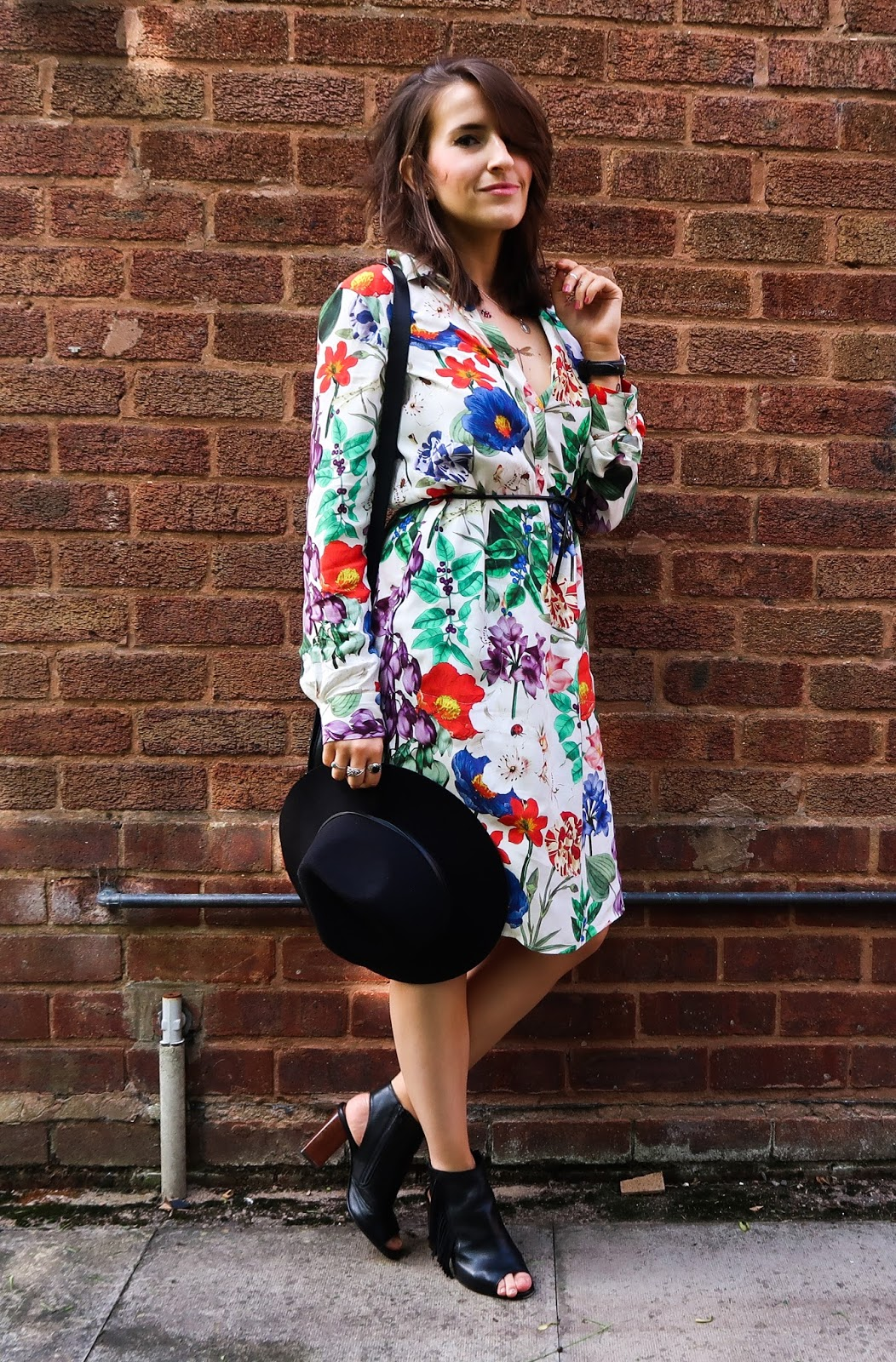 Floral Bohemian outfit inspiration