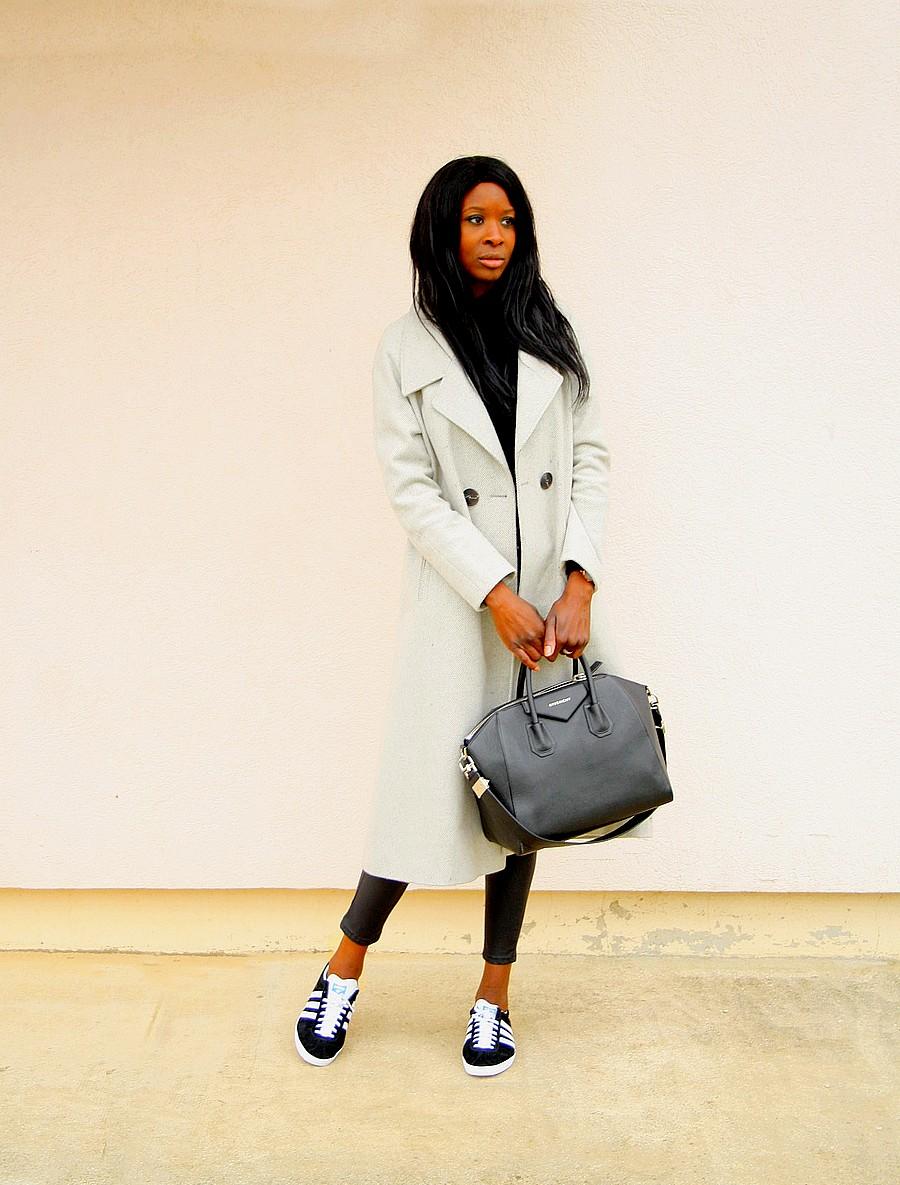manteau-asos-adidas-gazelle-legging-cuir-sac-givenchy-antigona-ootd