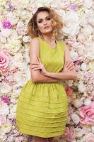 Rochie PrettyGirl Caramel Green • PrettyGirl
