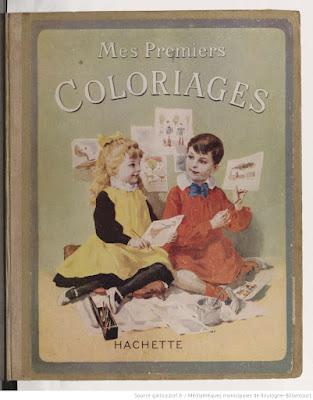 Mes Premiers Coloriages, ouvrage de Mademoiselle Brès, Inspectrice des écoles maternelles, vers 1890 (gallica-BnF)