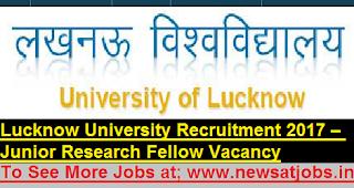 lucknow-University-jrf-vacancies