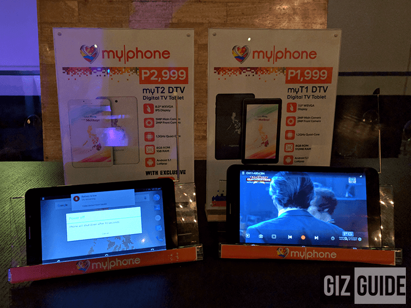 MyPhone My1 and MyT2 DTV tablets