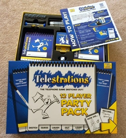 Telestrations party pack unboxed