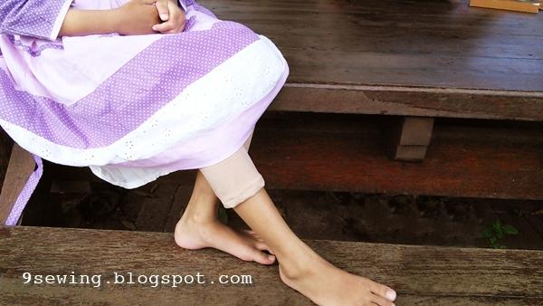 cara membuat legging kain kaos