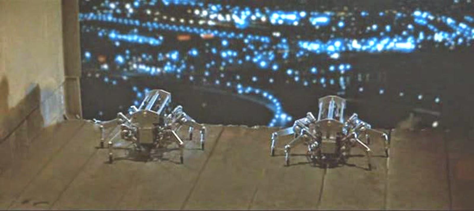 Runaway spider robots 1984 sci-fi