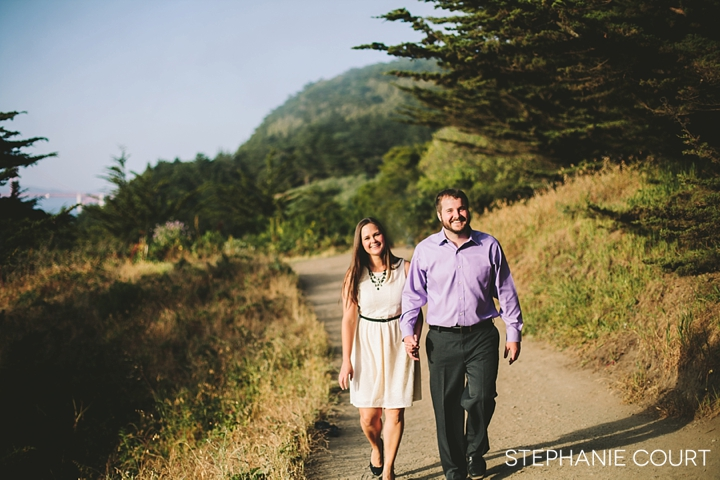 engagement photos at lands end