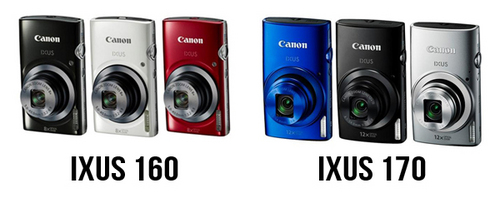 Canon IXUS 160 and IXUS 170