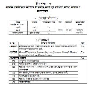 Maharashtra Police Syllabus