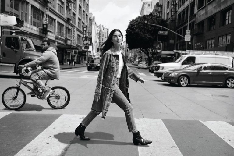 Lily Aldridge stars in Levi's Made & Crafted campaign