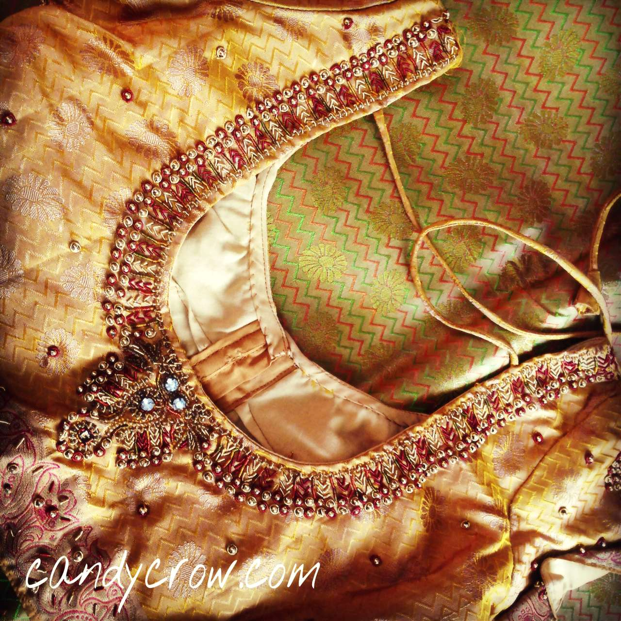 latest silk saree blouse design