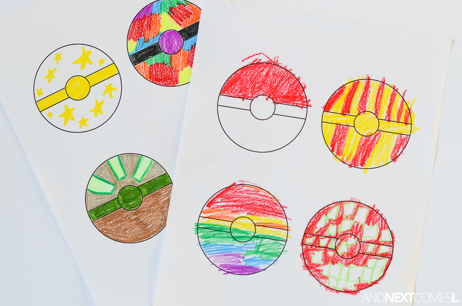 Free Printable Pokeballs Coloring Sheet for Kids  And Next Comes L