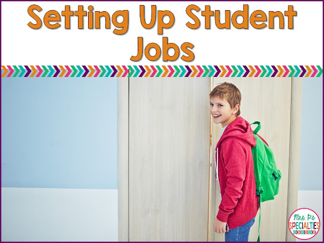 Setting up classroom jobs for our students is a great way to build a sense of community and ownership in the class as well as teaching about responsibility. Here are some ideas for getting you started: