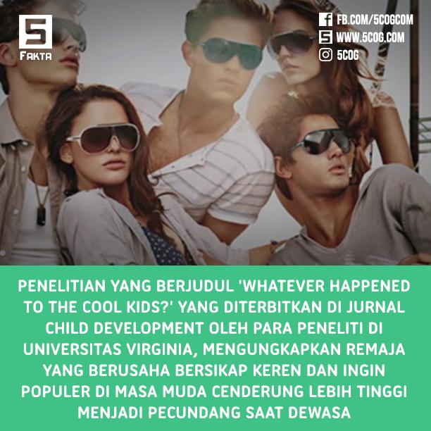 Remaja yang Ingin Tampil Keren dan Terkenal Jadi Pecundang Saat Dewasa