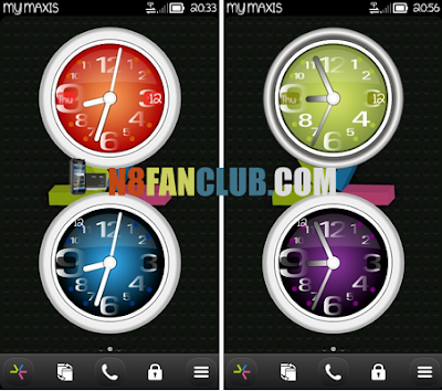 Jinhao Style Live Analog Clock Widgets for Nokia Symbian Belle