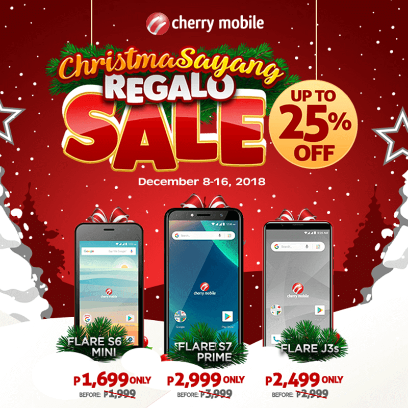 Cherry Mobile announces Christmas promo, save up to 25 percent on smartphones!