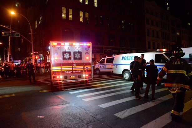 Bomb hidden in trash can explodes affecting 29 casualties in New York