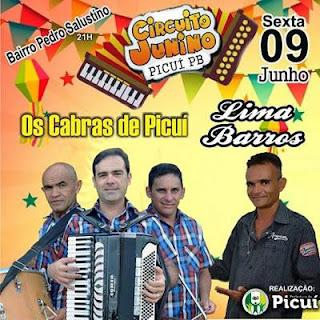 Lima Barros e os Cabras de Picuí animam o São João do Bairro Pedro Salustino nesta sexta (09)