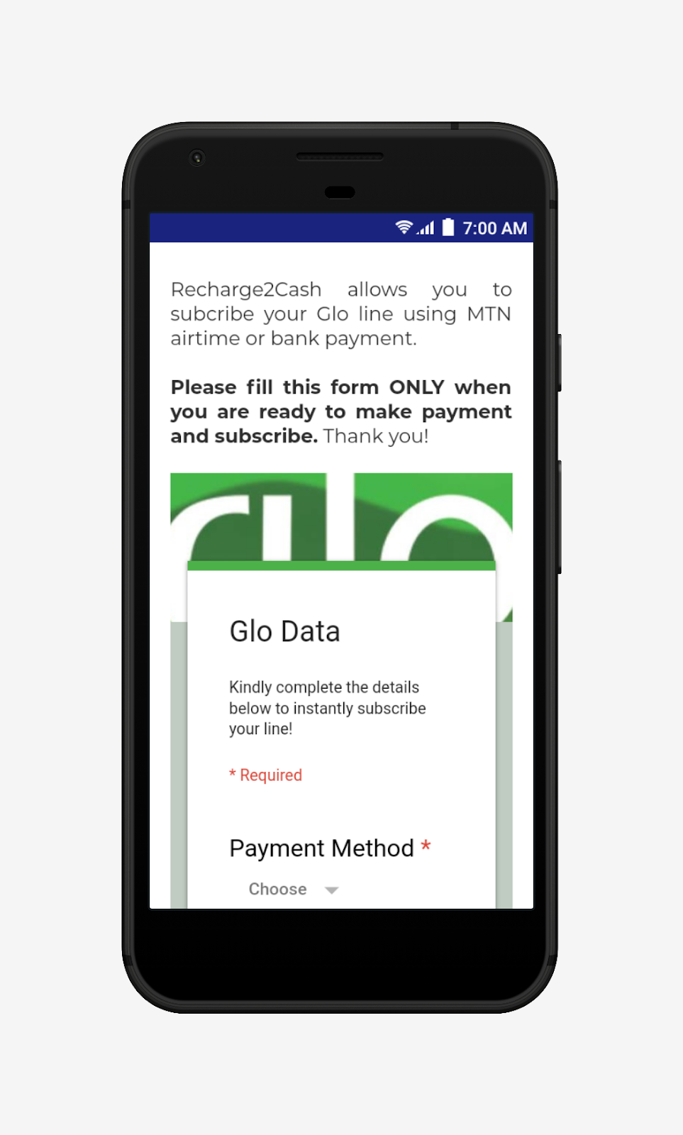 buy data on Recharge2Cash