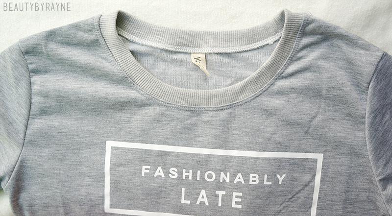 Romwe Fashionably Late Sweatshirt Review