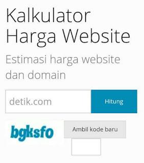 Cek harga blog atau website