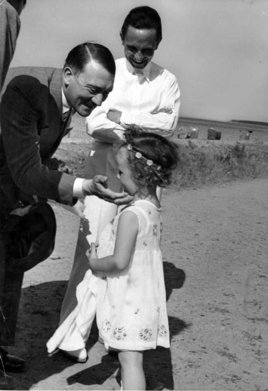 Hitler, Helga and Joseph Goebbels.