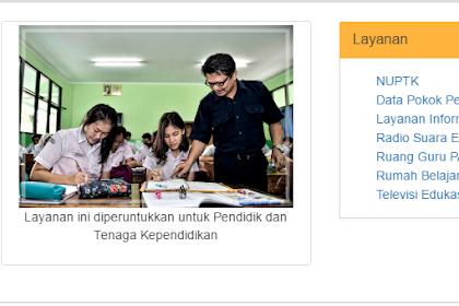 INFO GURU Layanan ini diperuntukkan untuk Pendidik dan Tenaga Kependidikan