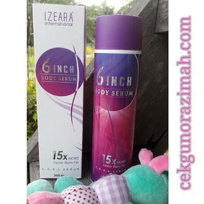 Izeara 6 inch serum, body serum, krim kurus, review Izeara Xtravaganza