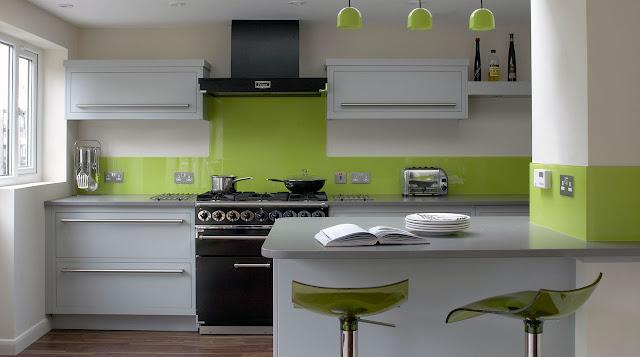 Model Desain Kitchen Sets Hijau