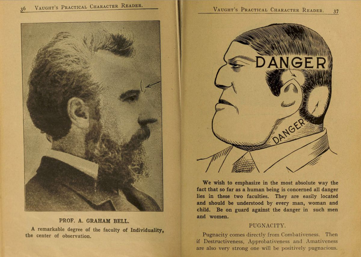 These Pages From A 1902 Weird Phrenology Book Can Help You