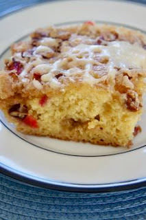 Overnight Cranberry Eggnog Coffee Cake: Savory Sweet and Satisfying