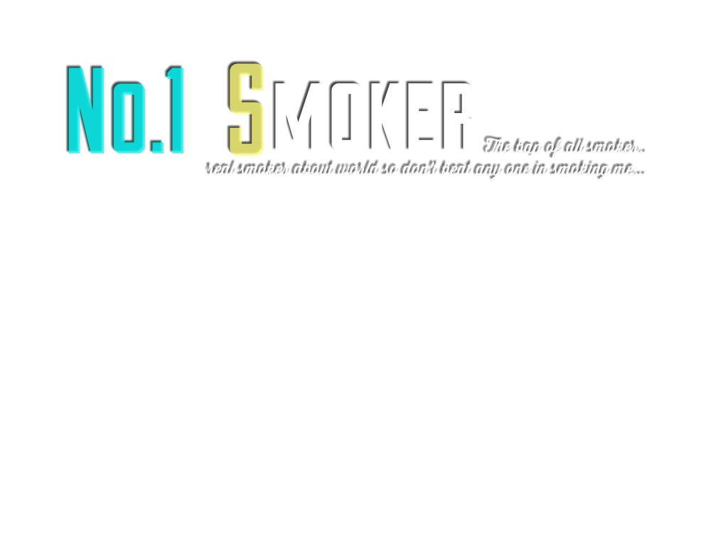SMOKER TEXT PNG EFFECT