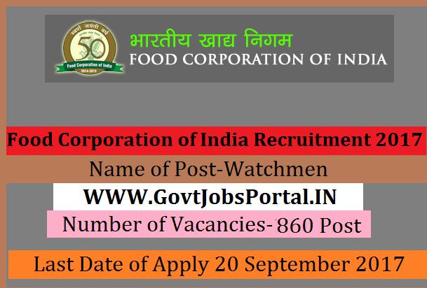 Food Corporation Of India Punjab Recruitment