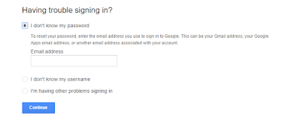 how to rcover gmail accoint