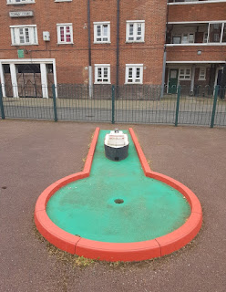 Crazy Golf at the Clarence Way Estate in Camden