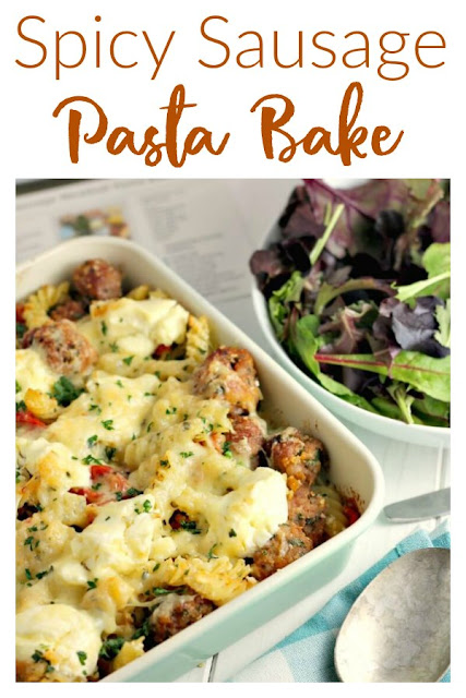 Spicy Sausage Pasta Bake with Cornwall Recipe Box
