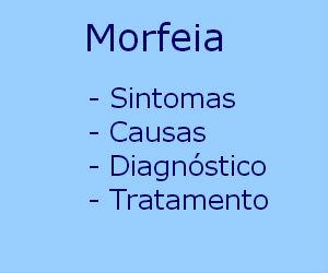 Morfeia sintomas causas tratamento