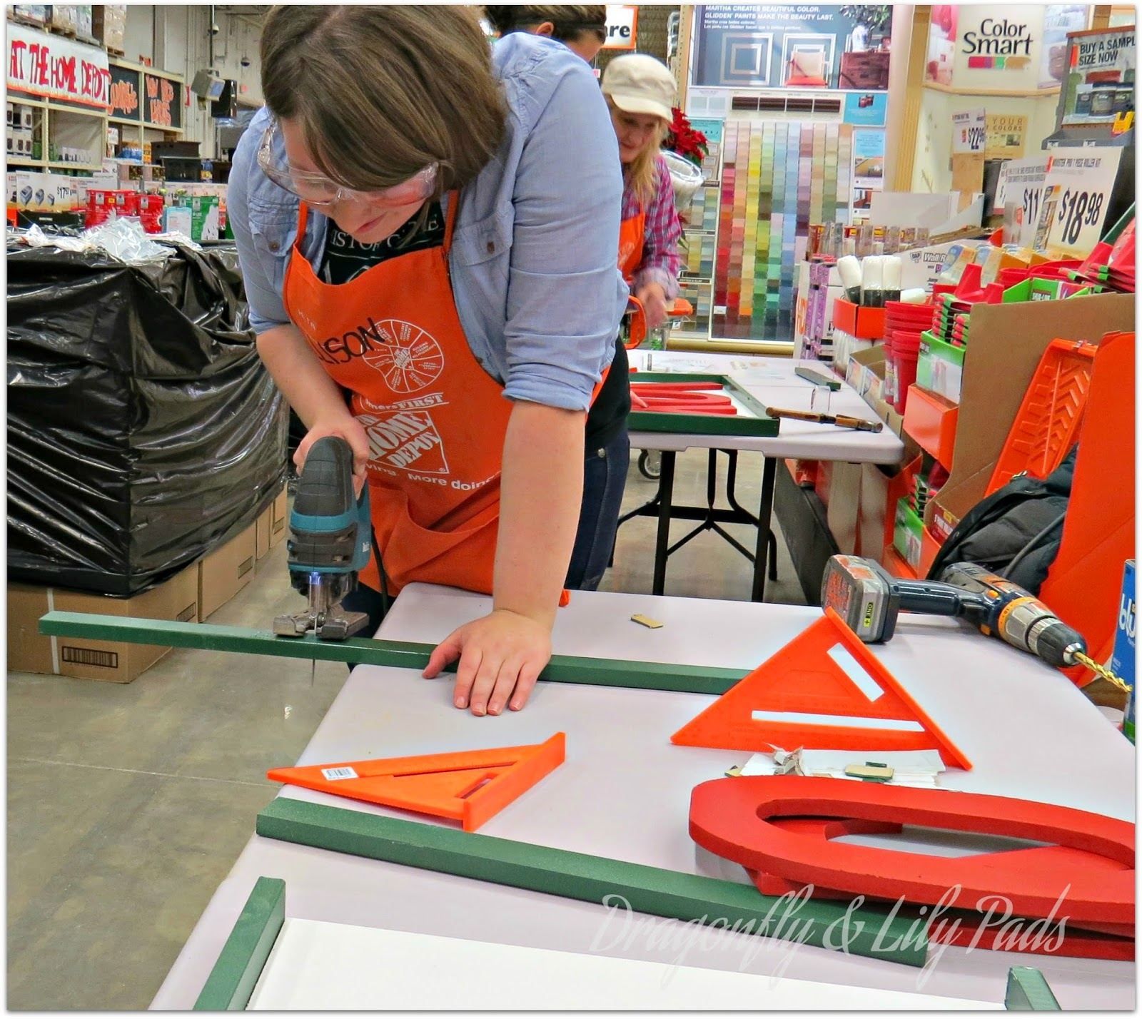 Dragonfly Lily Pads Home Depot Do It Herself Workshop 1