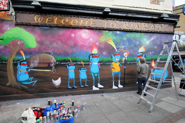 Street Art Mural By Brazilian Artist Cranio In East London, UK. 4