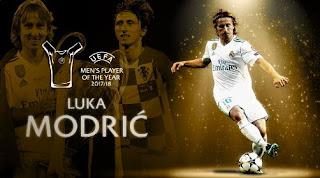 Luka Modrić Pemain Terbaik Eropa 2017-2018 Player of the Year