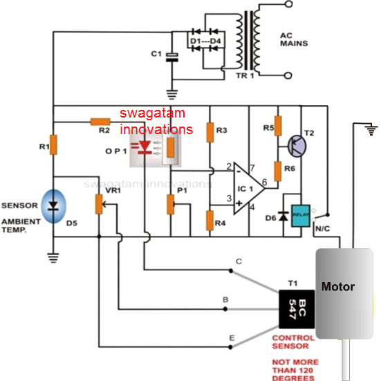 over heat thermal protection for motor with a simple circuit